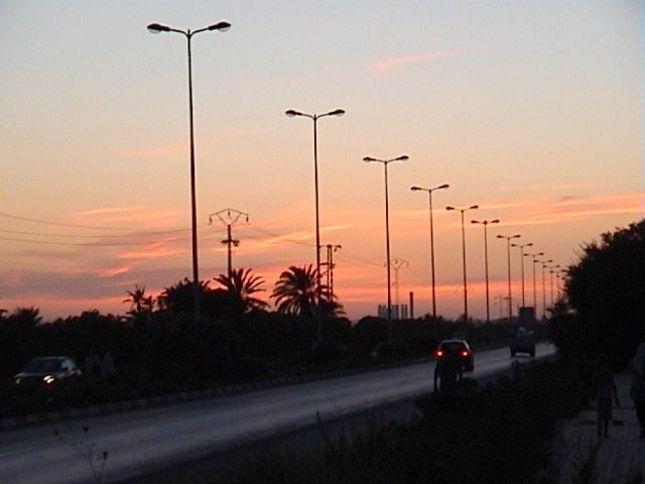 Západ slnka v Tunise