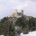 Čachtický hrad v zime