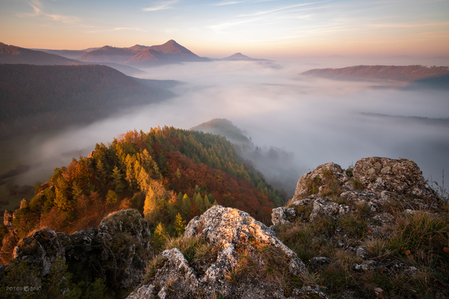 Svitanie v Strážovských vrchoch