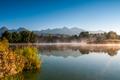 Skoré ráno na Štrbskom rybníku..