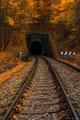 Jeseň na železnici