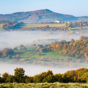 Jesenné ráno na kopaniciach