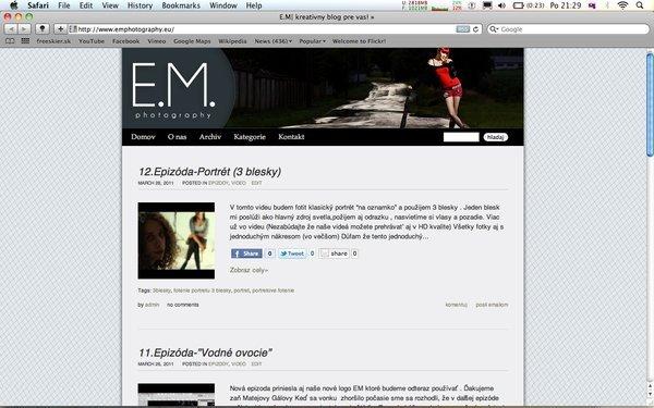 E.M. Spúštame blog