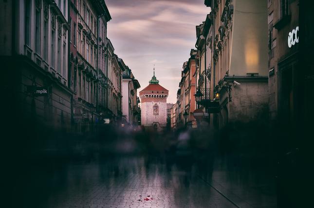 Pouličný ruch Krakova