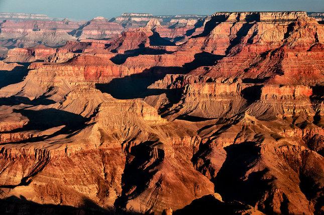 Grand canyon golden sunrise