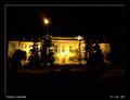 Nitriansky justičný palác v noci