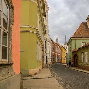V uličkách Ostrihomu.