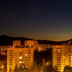 Nočné mesto.