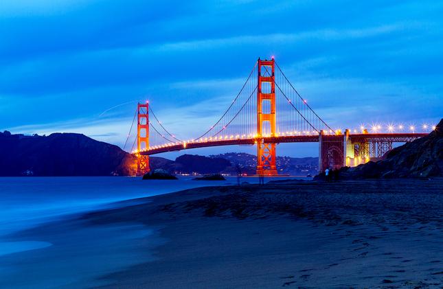 Golden Gate Bridge z Baker Beach