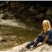 dievčina na skale