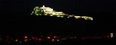 Spišský hrad v noci