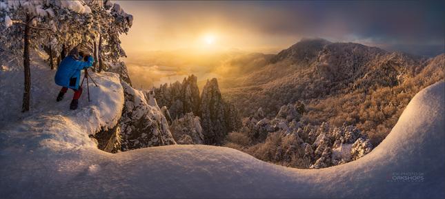 Zima na Súľovských skalách