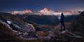 Face á facé Mont Blanc