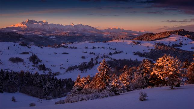 Zima v Pieninach