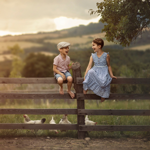 v lete na farme