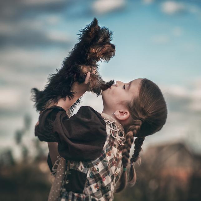 Michaela a jej psík