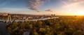 Jesenná Bratislava ráno z výšky