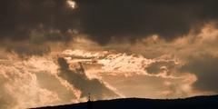 večerná obloha