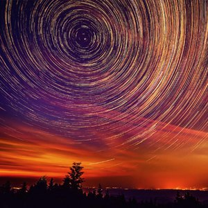 Star Trails over The Kojsov