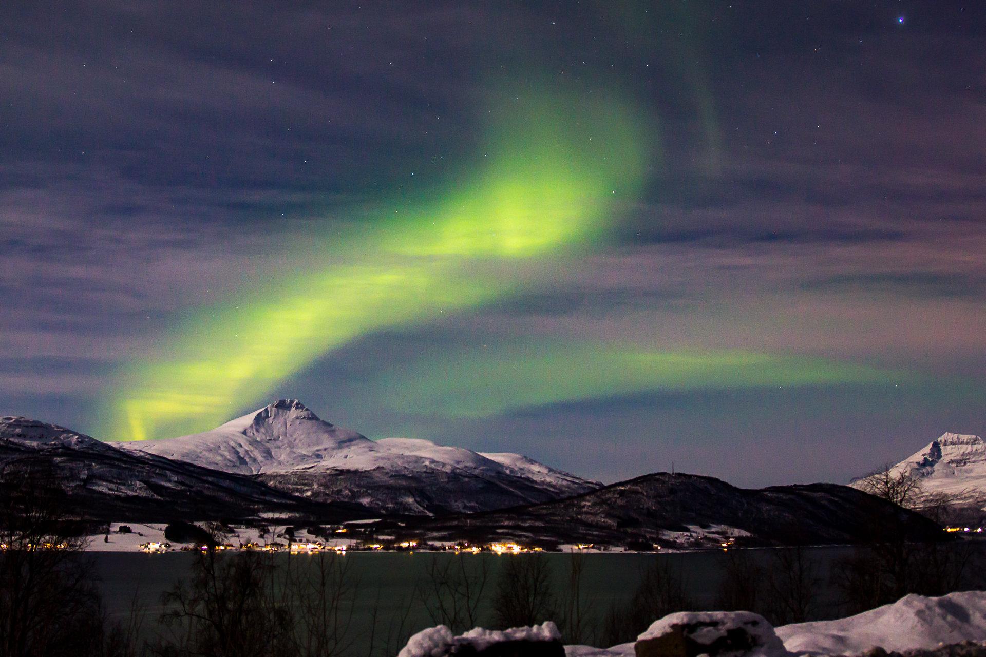 Polárna žiara pri Tromsø