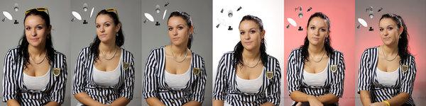 Fotenie portrétnej fotografie s  použitím troch bleskov