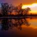 západ slnka pri rieke Morave