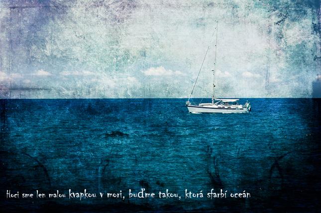 ...kvapkou v mori...