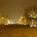 Zvolenské námestie v hmle