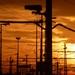 Západ slnka nad stanicou