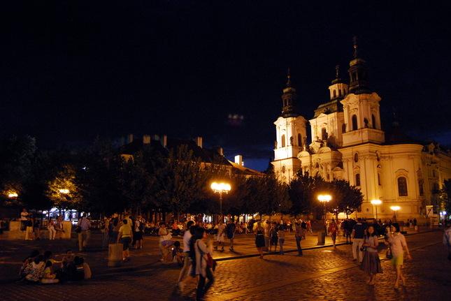 Noc v Prahe