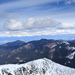 Pohľad z Chopku na Vysoké Tatry