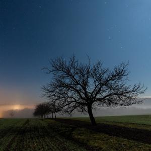 Mesačná noc nad Kloboukmi u Brna