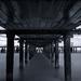 Under the pier...B&W