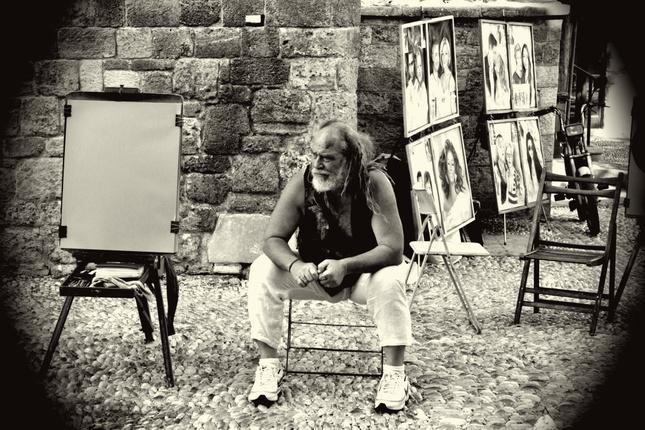 Pouličný maliar.