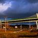 ...dialničný  most v svetle jese