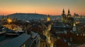 Večerný pohľad na Prahu