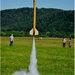 Štart rakety -padák