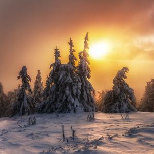 Slnko nad hmlu