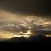Západ slnka nad Vysokými Tatrami