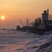 Prístav Taganrog pri východe sln