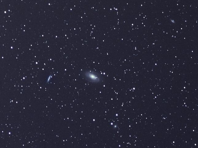 Galaxia M82 a M81 s rodinou
