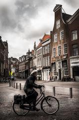 Haarlem a teta na bicykli