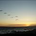 Sunset on Malibu Beach