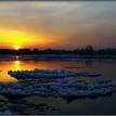 Dunajské slnka západy.