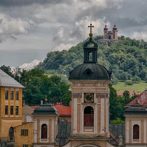 Pohľad z mesta na kalváriu