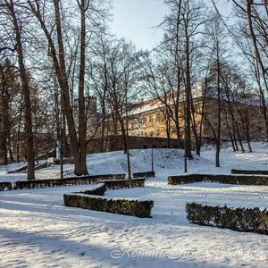 Zima v parku a kaštieľ