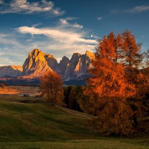 jesenné Dolomity
