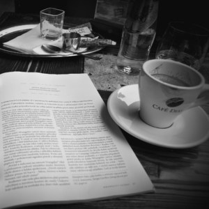 Coffee time on Sunday morning