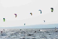 Kitesurfing in March