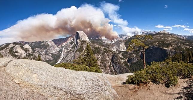 Yosemite in fire